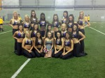 Maggie,center,on the practice field with the LSU Golden Girls