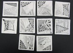 LSU Leisure Class Mosaic #1- Basic Zentangle 