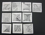 LSU Leisure Class Mosaic #2- Basic Zentangle 