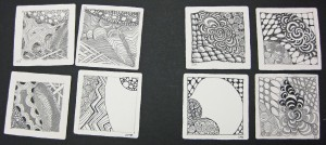 Student Class Mosaic from Feb 17 class at LSUBasic Zentangle
