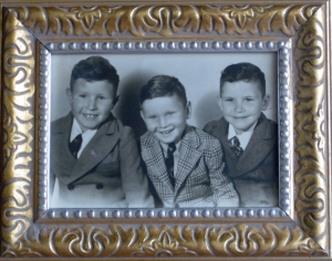 My dad and his brothers - he's the cute one in the middle.