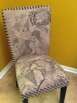 Zentangle Inspired Chair by Blanche Nichols