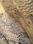 Detail of Zentangle Inspired Chair by Blanche Nichols