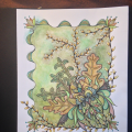 A piece completed in Jean Theurkauf's class at the Pajama Retreat in Michigan