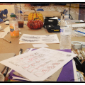 The table during a great class taught at David Art in Metairie, LA