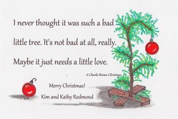 Zentangle + Charlie Brown make a cute Christmas card
