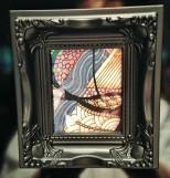 A Random act of Art given to my friend, Karen. In return, I got some stunning earrings!